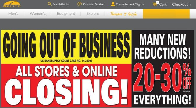 GoLite is going out of Business?