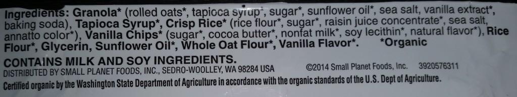 Cascadian farms ingredients list