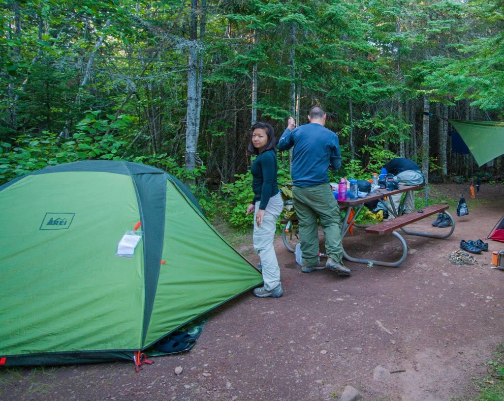 REI Tent on Tent Pad