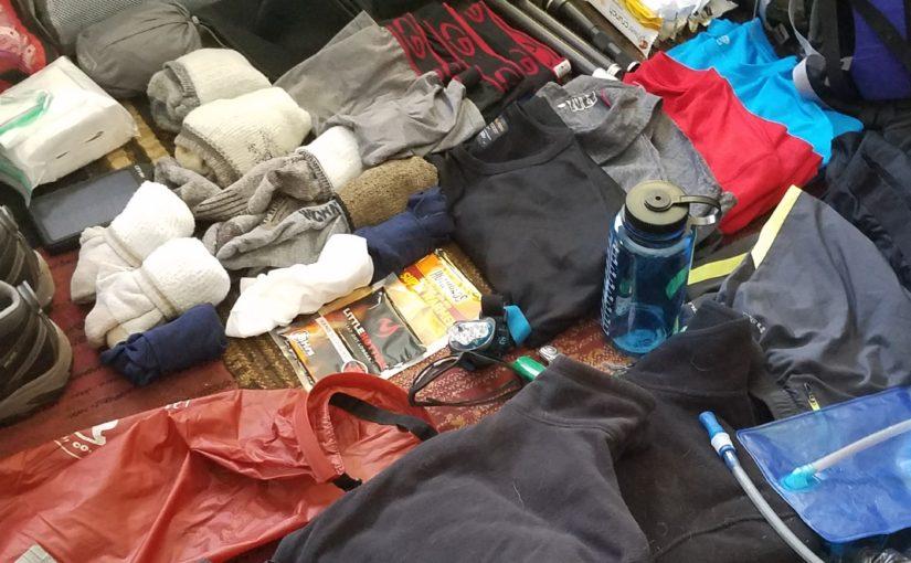 Packing for Kilimanjaro.